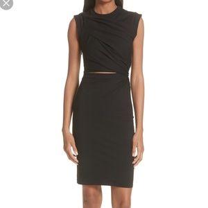 T by Alexander Wang Keyhole Twist Jersey dress